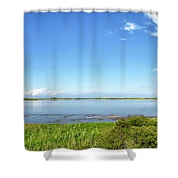 Gordons Pond Panorama - Cape Henlopen State Park - Delaware Shower Curtain by Brendan Reals