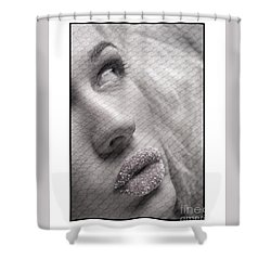 Shower Curtain featuring the photograph Gorgeous Girl With Sugar On Her Lips by Michael Edwards