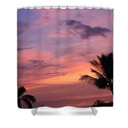 Gorgeous Hawaiian Sunset - 2 Shower Curtain by Karen Nicholson