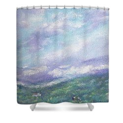 Gorgeous Lake Landscape Shower Curtain