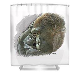 Gorilla Mother Shower Curtain