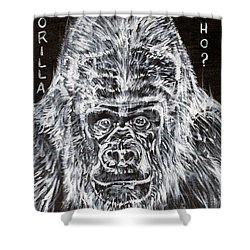 Shower Curtain featuring the painting Gorilla Who? by Fabrizio Cassetta