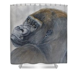Gorilla's Celebrity Pose Shower Curtain