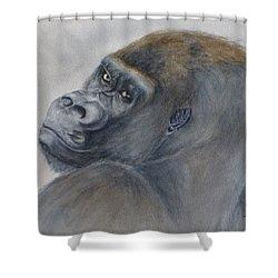 Gorilla's Celebrity Pose Shower Curtain