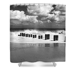 Gorleston Beach Shower Curtain by Ian Merton
