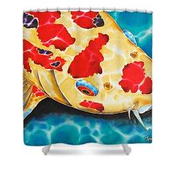 Goshiki Koi Shower Curtain by Daniel Jean-Baptiste