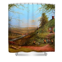 Gossip At The Gate Shower Curtain