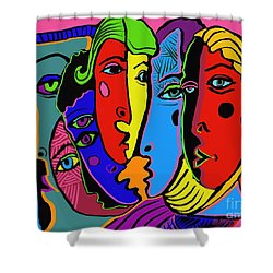 Gossip Shower Curtain by Hans Magden