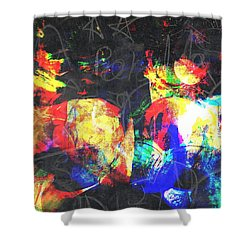 Gossiping Shower Curtain