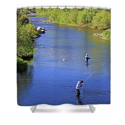 Shower Curtain featuring the photograph Got One  by Donna Kennedy