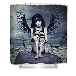 Goth Fairy Shower Curtain