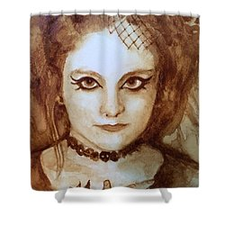 Goth Lady Shower Curtain by Chrissey Dittus
