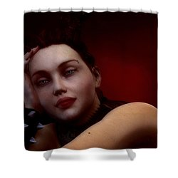 Gothic Angel Portrait Shower Curtain