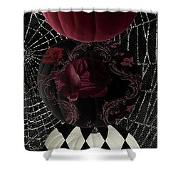Gothic Halloween Shower Curtain by Mindy Sommers