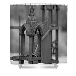Gothic Ornamental Fence In Boothill Shower Curtain
