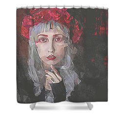 Gothic Petal Shower Curtain