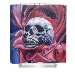 Shower Curtain featuring the painting Gothic Romance by Isabella F Abbie Shores FRSA