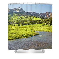 Gothic Valley - Early Evening Shower Curtain by Eric Glaser