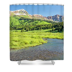 Shower Curtain featuring the photograph Gothic Valley - Morning by Eric Glaser