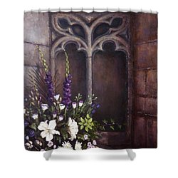Gothic Wedding Bouquet Shower Curtain by Sean Conlon