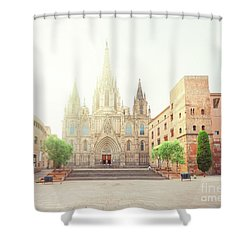 Gotic Cathedral  Of Barcelona Shower Curtain