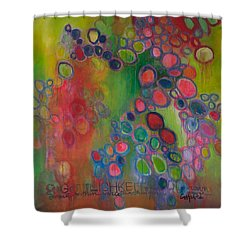 Shower Curtain featuring the painting Gottlichkeit by Laurie Maves ART