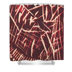 Shower Curtain featuring the painting Gouges by Erika Chamberlin
