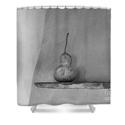 Gourd Black And White Shower Curtain