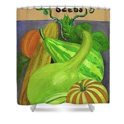 Gourd Purple Shower Curtain