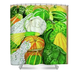Gourd Seed Packet Shower Curtain