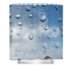 Gouttes Shower Curtain by Marc Philippe Joly