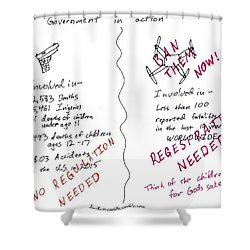 Government Inaction Shower Curtain by David S Reynolds