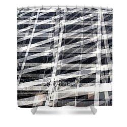 Grace Building Collage 2 Shower Curtain