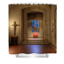 Grace Cathedral Side Altar Shower Curtain by David Bearden