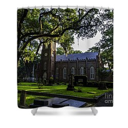 Grace Episcopal Church Three Shower Curtain by Ken Frischkorn