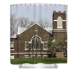 Grace Fellowship A Country Gathering Place Shower Curtain