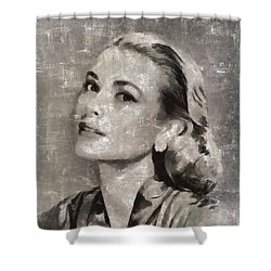 Grace Kelly By Mary Bassett Shower Curtain