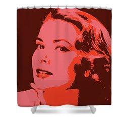 Grace Kelly Pop Art Shower Curtain by Dan Sproul