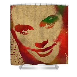 Grace Kelly Watercolor Portrait Shower Curtain