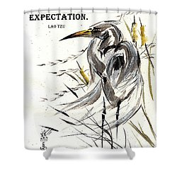 Grace Of Solitude With Lao Tzu Quote II Shower Curtain by Bill Searle
