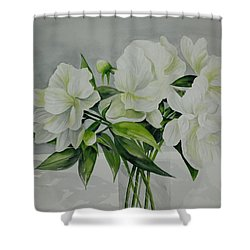 Graceful Peonies Shower Curtain