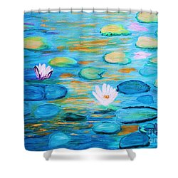 Graceful Pond From The Water Series Shower Curtain