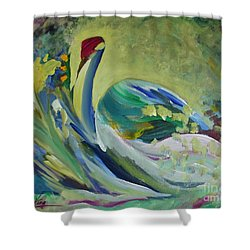 Graceful Swan Shower Curtain