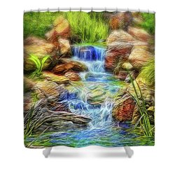 Graceful Waters Shower Curtain