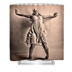 Gracefully Falling Shower Curtain