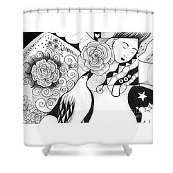 Gracefully Shower Curtain by Helena Tiainen