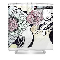 Gracefully - In Color Shower Curtain by Helena Tiainen
