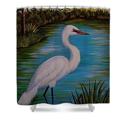 Gracefully Waiting Shower Curtain