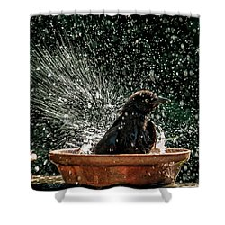 Grack Bath Flower Pot Shower Curtain