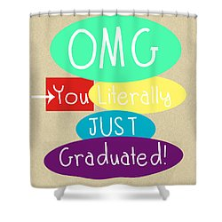 Graduation Card Shower Curtain